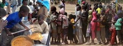 People facing food starvation/famine in northeast Nigeria