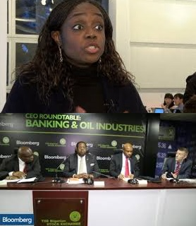 Nigerian Minister of Finance, Mrs. Kemi Adeosun @ Stock Exchange (NSE)-Bloomberg CEO Roundtable